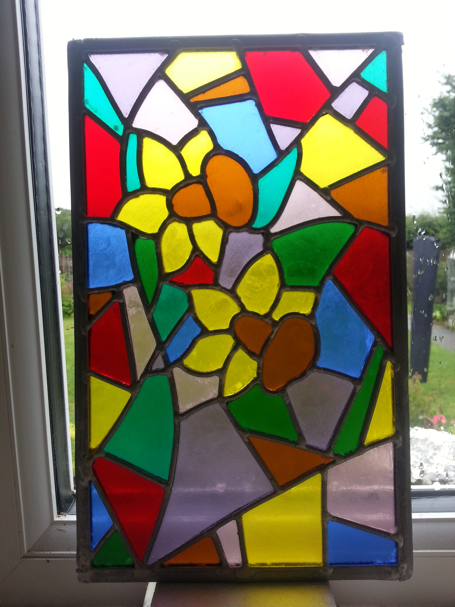 Daffodil panel to fit in oak lamp